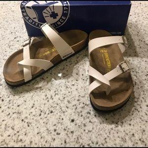 Birkenstock Mayari White Leather Sandals Brand New